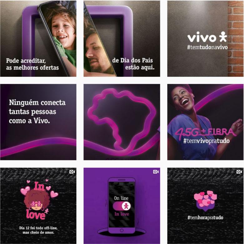 Referências feed Instagram: @vivo