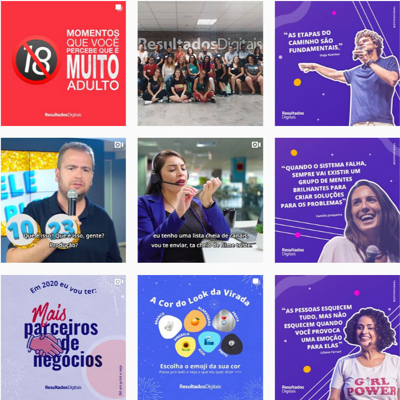Referências feed Instagram: @resdigitais