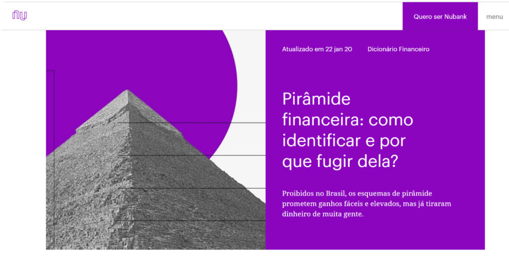 Exemplo de blog corporativo: NuBank